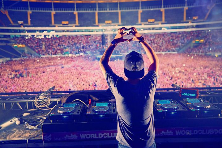 """Tim Bergling, aka """"Avicii,"""" performing at the World Club Dome in Frankfurt in 2015: He had already been on many stages before he realized he didn't belong there."""