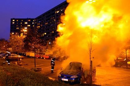 Rioting in France seems to be nearing an end. But it hasn't been totally extinguished. Here, a car burns on Sunday in Toulouse.