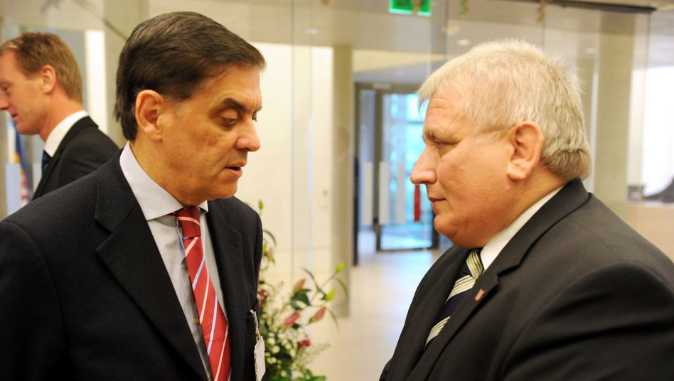 """Romani Rose (left), chairman of the Central Council of German Sinti and Roma, called Tuesday's move """"historic."""""""