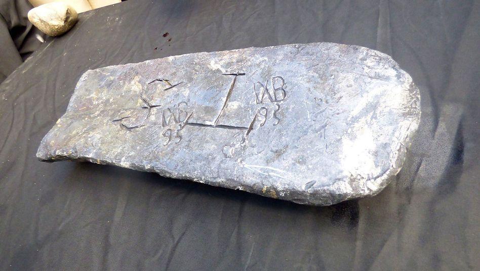 Ein 50 Kilogramm schwerer Silberbarren: Vermutlich die Beute vor Käpt'n Kidd