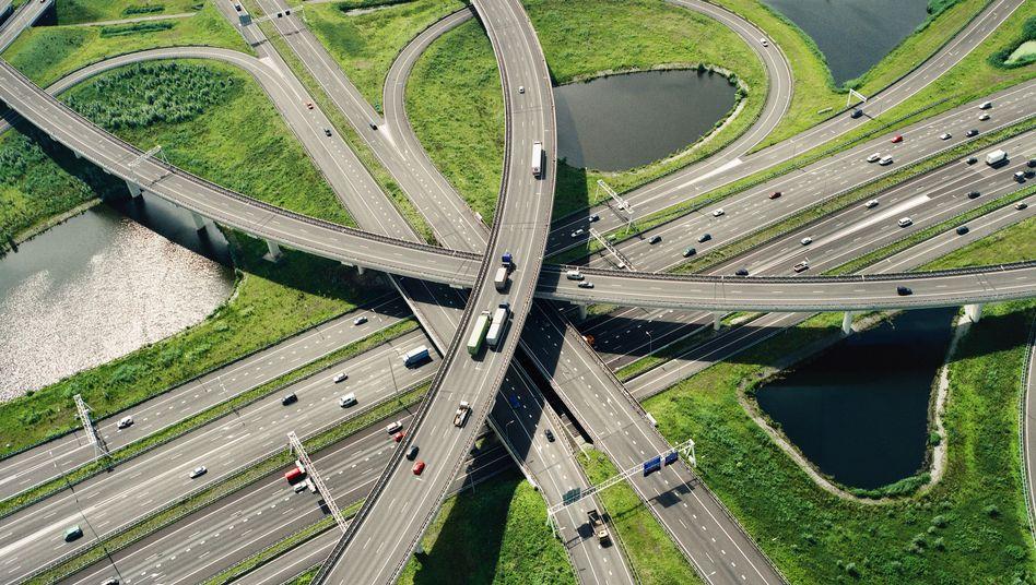 Autobahnkreuz in den Niederlanden