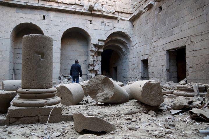 Die Zitadelle von Bosra 2015 nach Luftangriffen