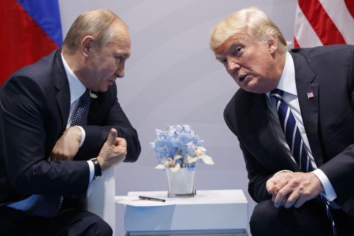 Trump und Putin im Juli 2017 in Hamburg