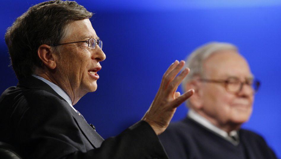 Initiative von Gates und Buffett: 40 Superreiche spenden Hälfte ihres Vermögens