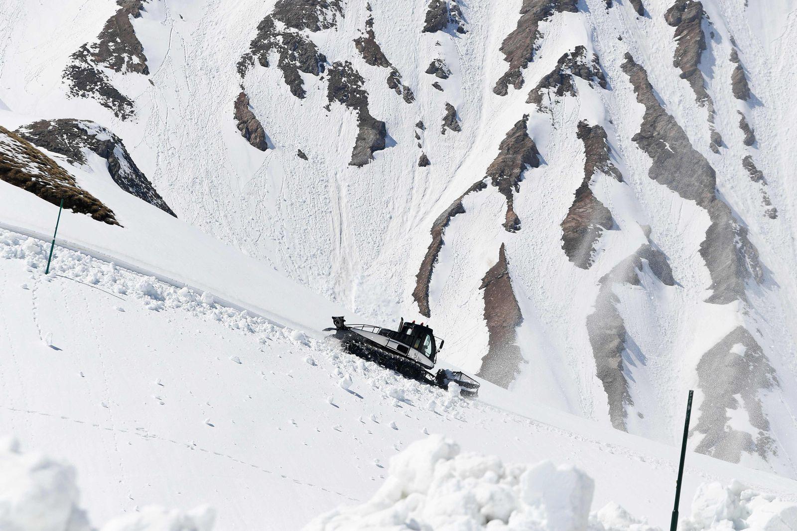 Frankreich Schnee Alpen