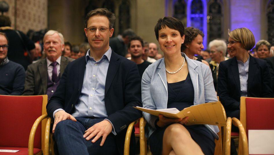 Noch-AfD-Politiker Pretzell und Petry