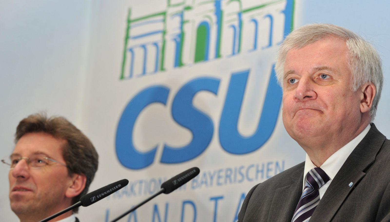 Klausurtagung der CSU-Fraktion - Schmid Seehofer