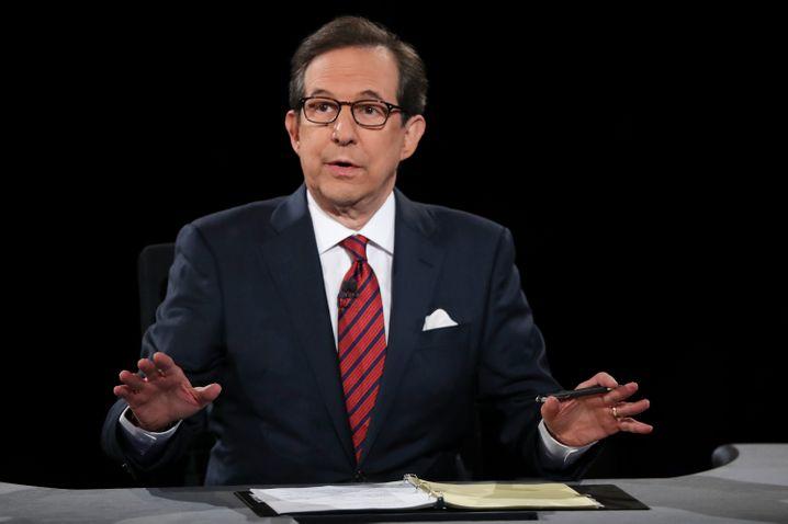Kritisch - obwohl er bei Fox News arbeitet: Der Debattenmoderator Chris Wallace