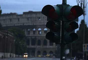 In ganz Italien ging gestern das Licht aus