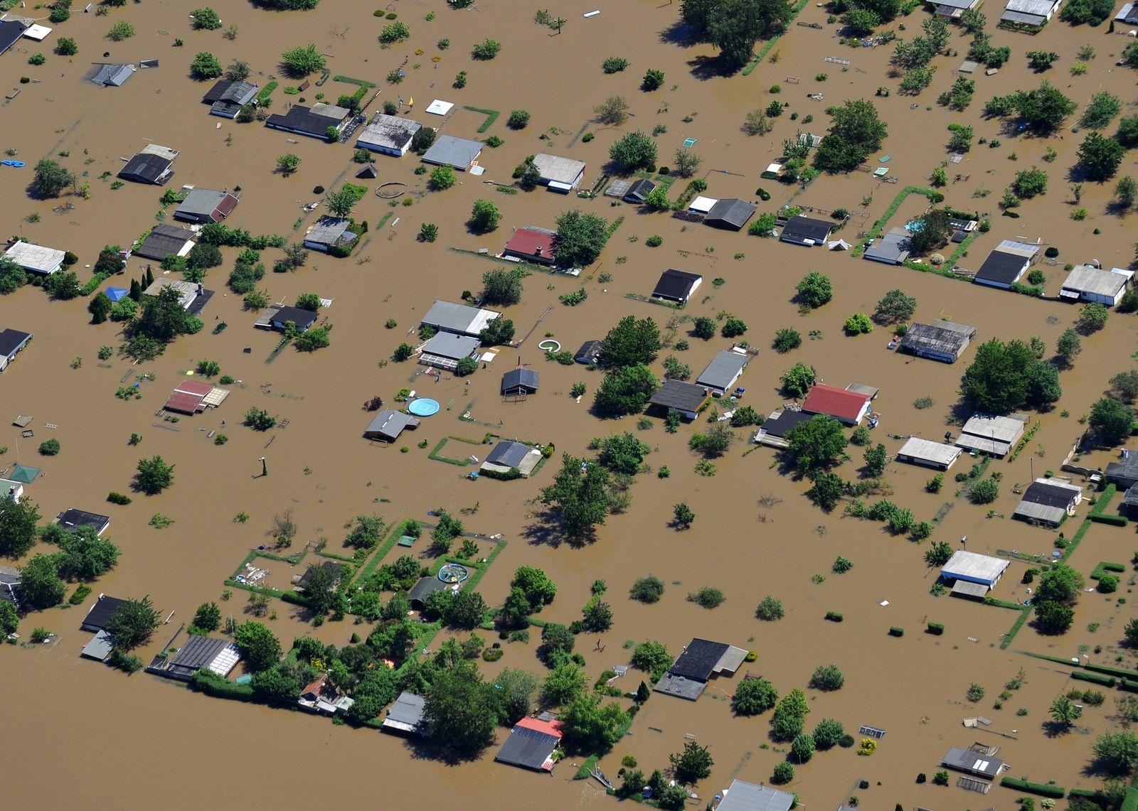 Hochwasser in Sachsen-Anhalt - Halle/Saale