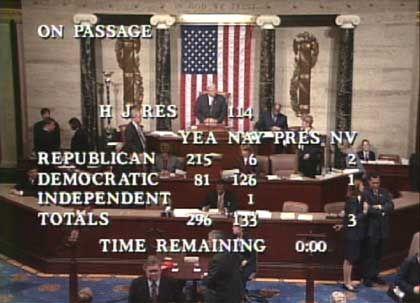 Irak-Abstimmung im Repräsentantenhaus: Klare Mehrheit für den Krieg