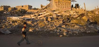 Ruinen in Gaza: Die israelische Armee übte in der Nacht Vergeltung für Angriffe der Hamas