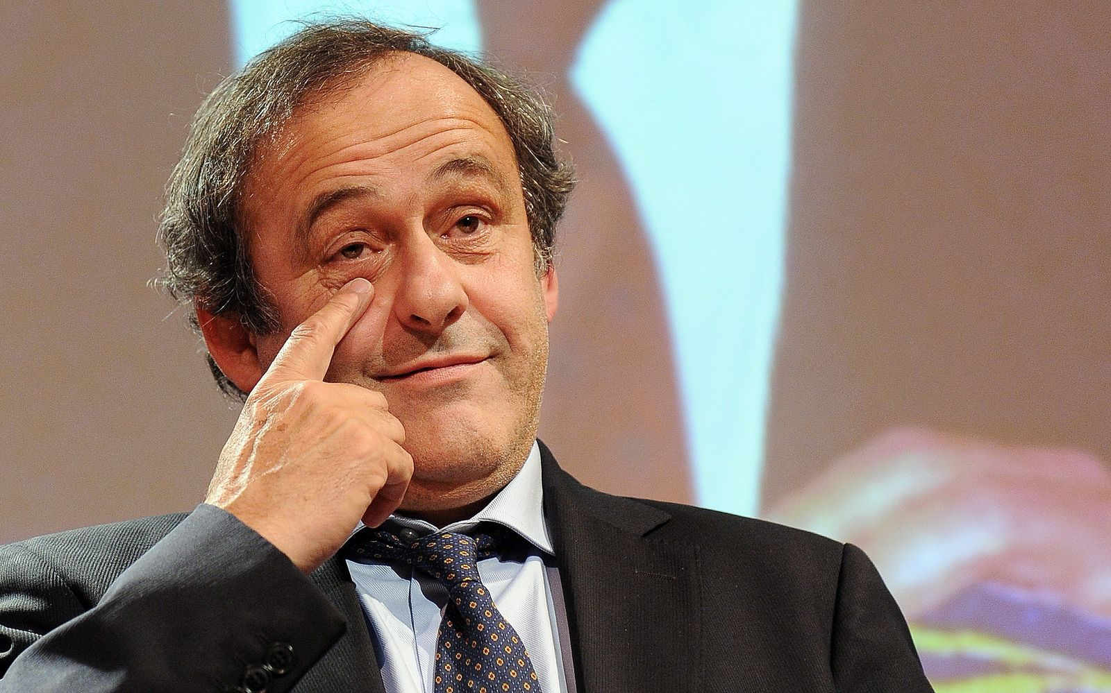UEFA President Michel Platini during the award ceremony of the in