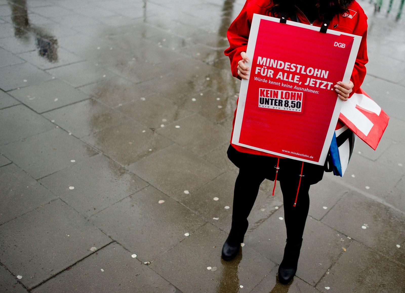 DGB Aktionstag zum Mindestlohn