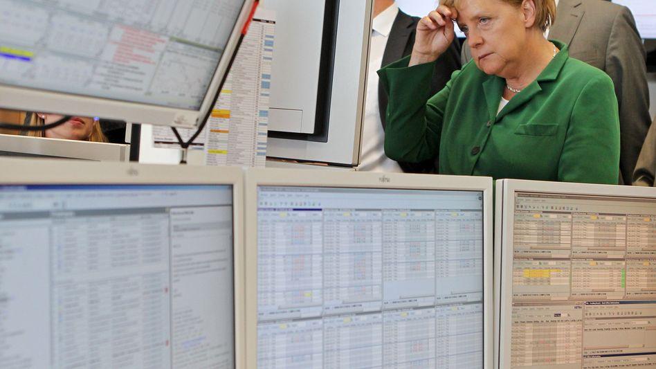 """Angela Merkel auf der Energiebörse in Leipzig: """"Völlig erlaubter Diskussionsbeitrag"""""""