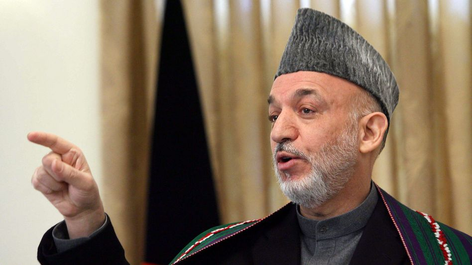 """Afghan President Hamid Karzai: """"What has happened to cause the Afghan people in the south to allow the Taliban to return to their villages? Something must have gone wrong. But who allowed things to go wrong?"""""""
