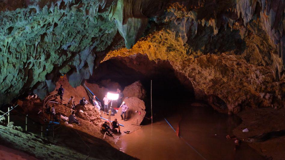 Aufnahme der Höhlenrettung in Thailand 2018
