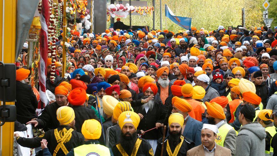 Sikh-Prozession am Wochenende in Essen