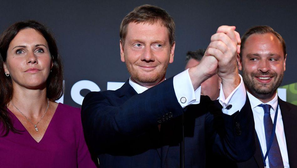 Michael Kretschmer: Direktmandat gewonnen - und trotz deutlichen Verlusten Platz eins für die CDU