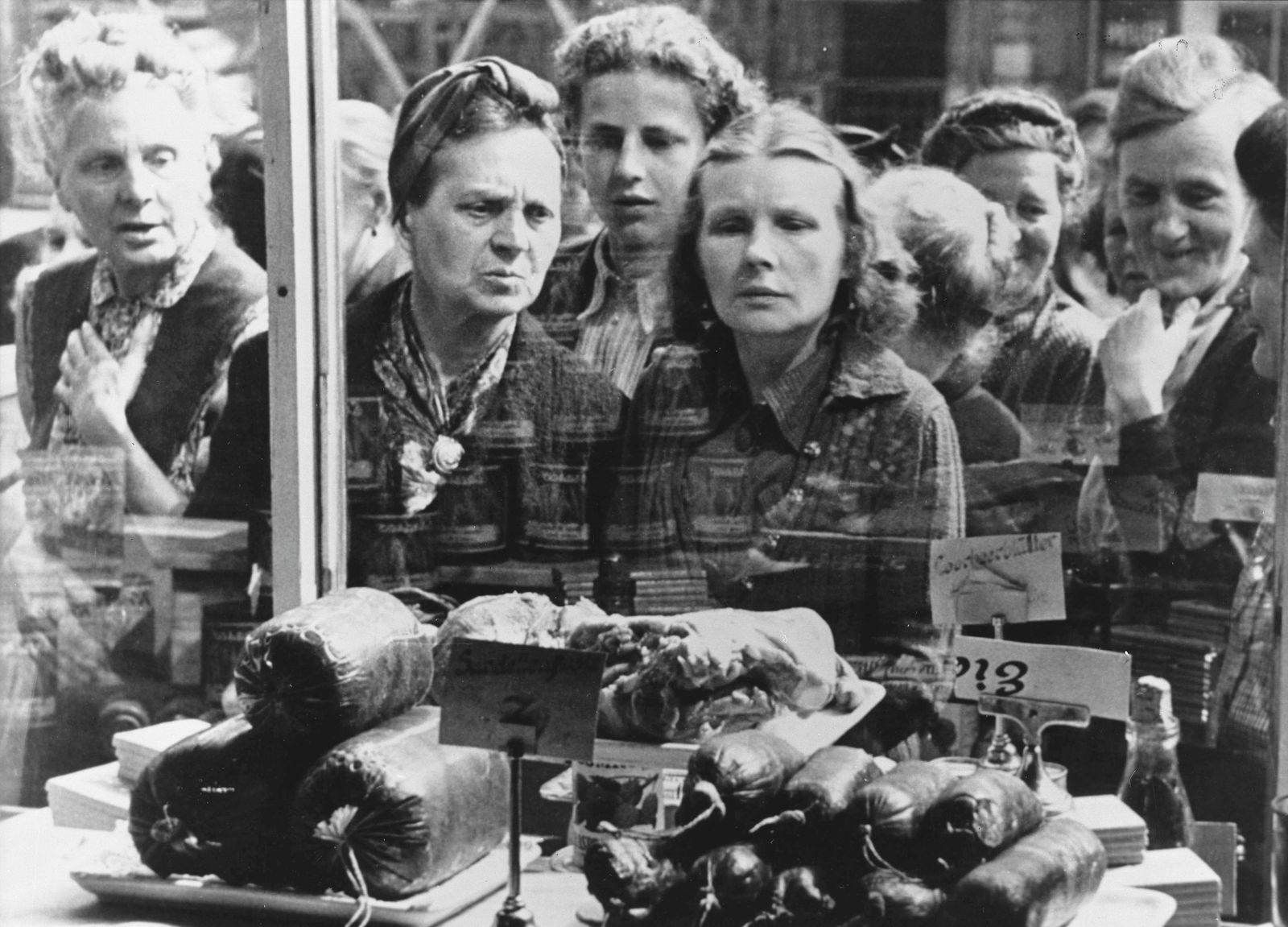 Aufhebung Blockade 1949 / Schaufenster