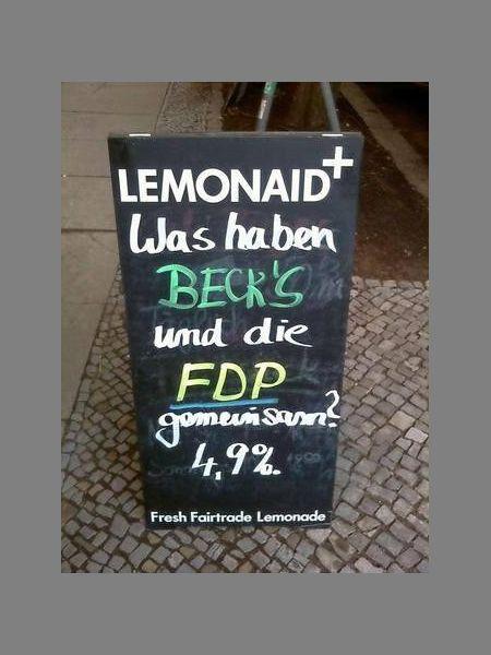 Foto getwittert von @derfreitag: FDP war zu schwach, zu unmutig und zu CDU