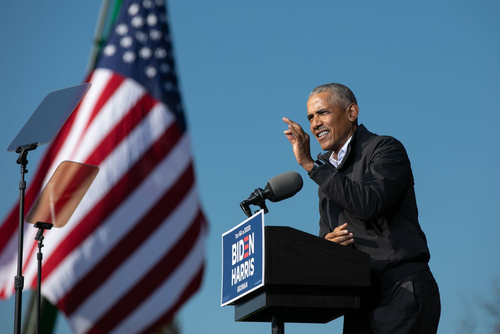 BESTPIX - Barack Obama Speaks At Georgia Get Out The Vote Rally With Senate Candidates