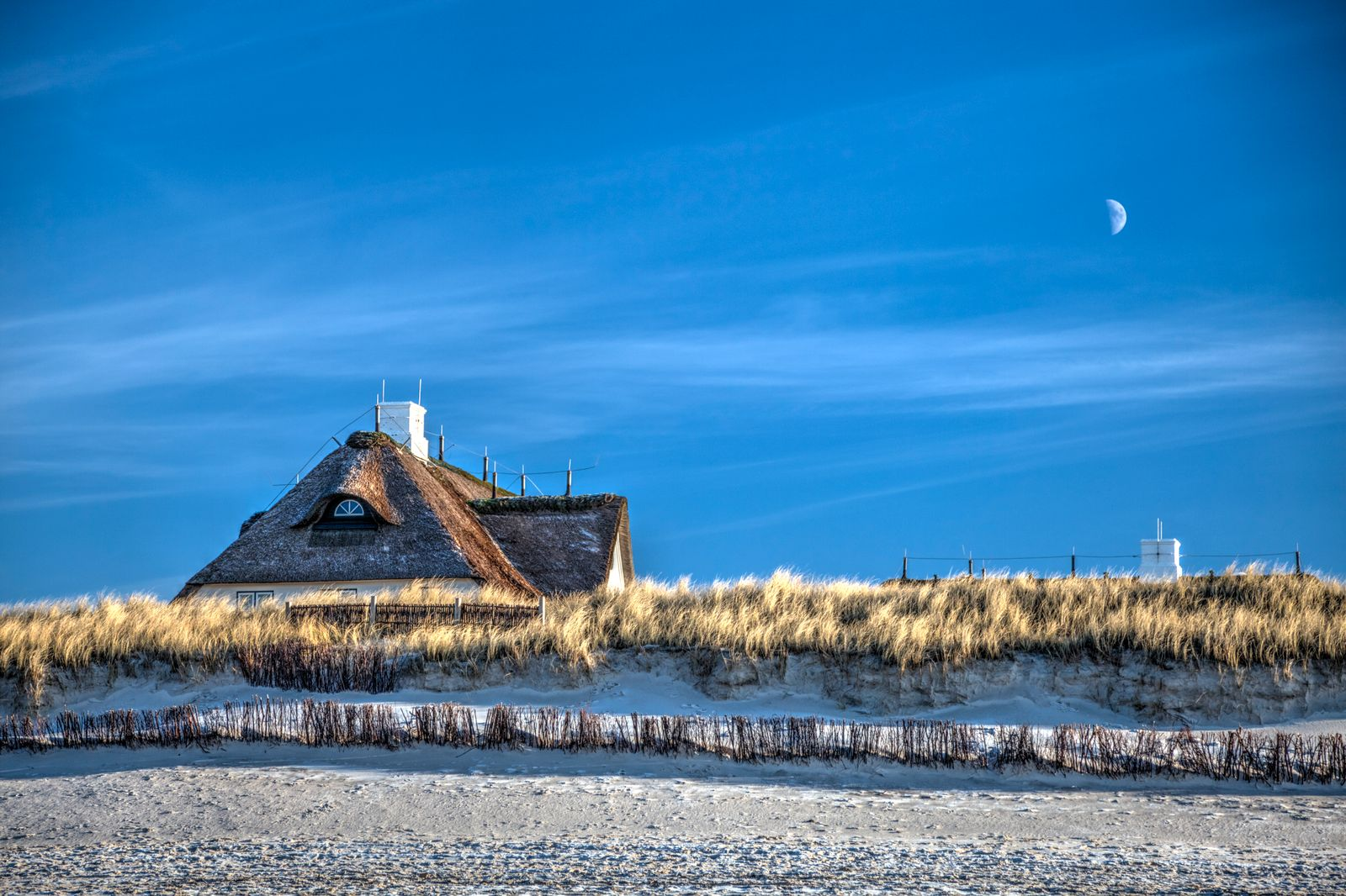 A beach on Sylt islands in Germany.