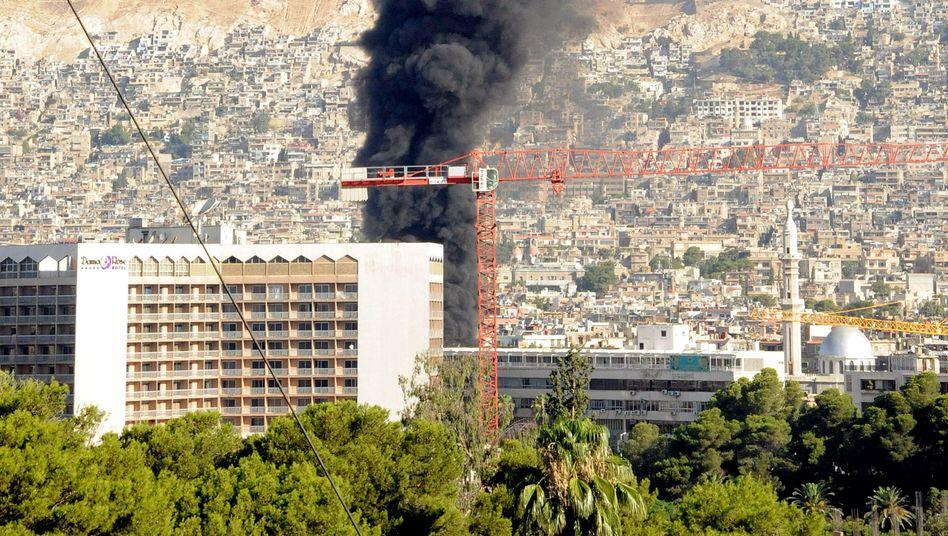 Explosion nahe dem Hotel der Uno-Beobachter (am 15. August): Gefährliche Mission