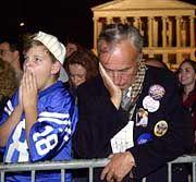 Wie hier in Nashville mussten Anhänger der Demokraten auf das Endergebnis der Präsidentschaftswahl warten.