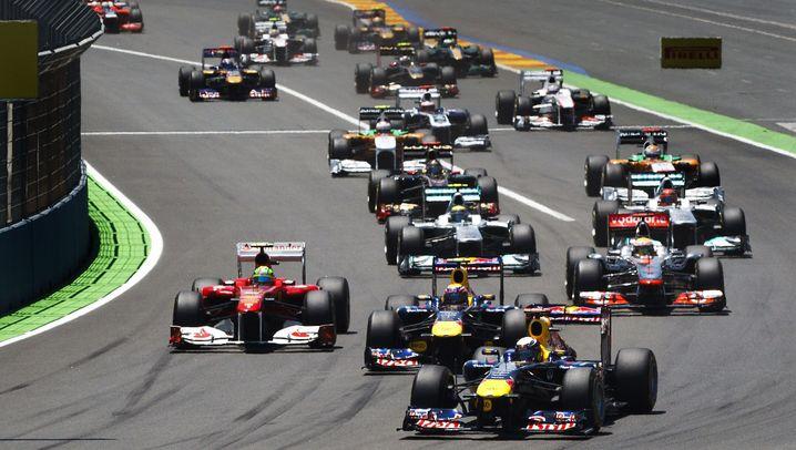 Großer Preis von Europa: Vettel, der Überflieger