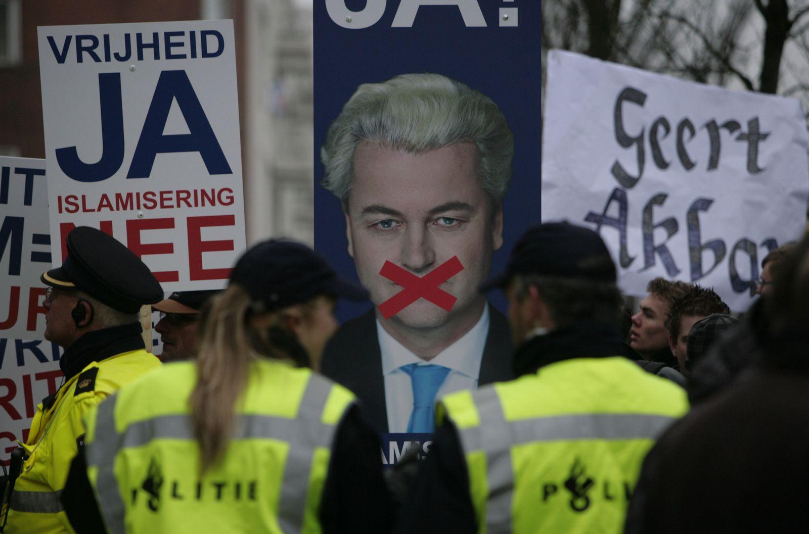 Geert Wilders / Protest / Niederlande