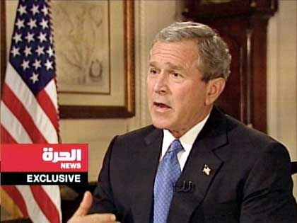 Bush appeared on the station to promise that the abuses in Abu Ghraib would be investigated and those guilty would be brought to justice.