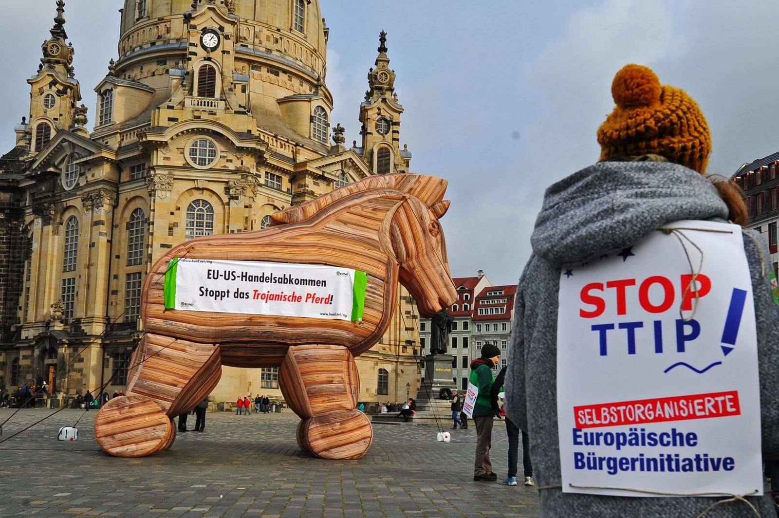 Protestaktion gegen Freihandelsabkommen