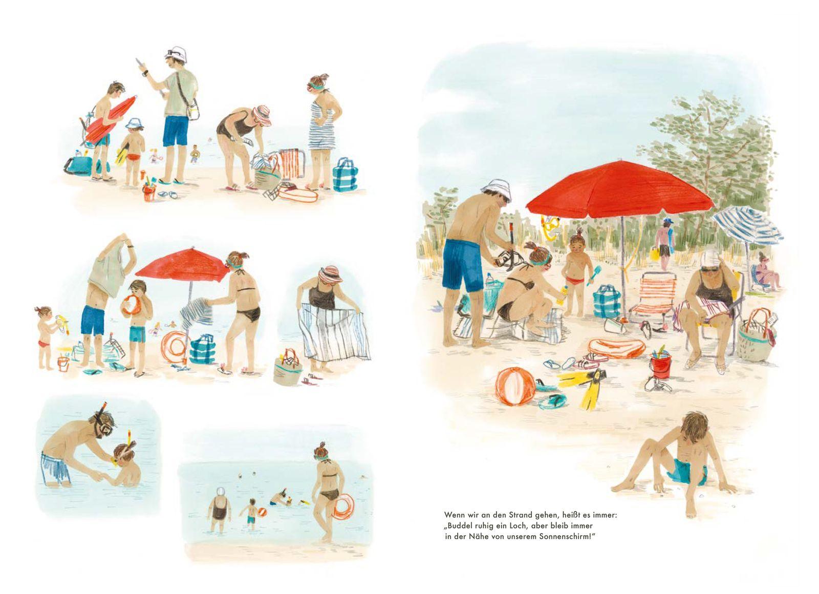 Kinderbücher/ Susanne Mattiangeli & Vessela Nikolova: Ein Strandtag