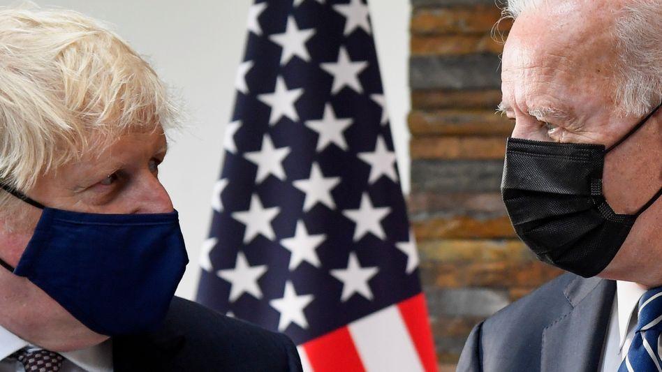 US-Präsident Joe Biden (r.) mit UK-Premier Boris Johnson