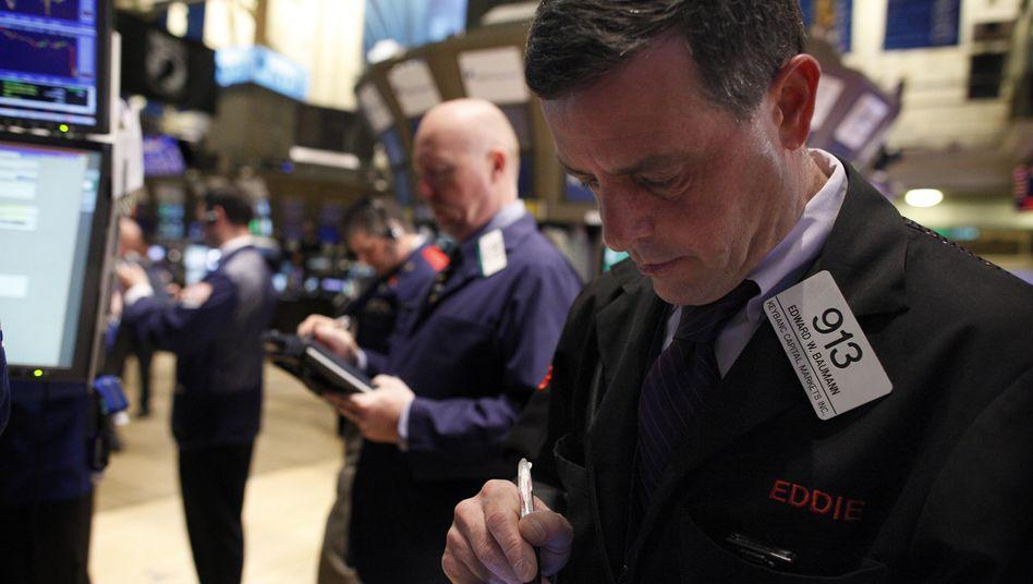 Händler an der Wall Street: USA haben noch ein Vertrauenspolster bei Investoren