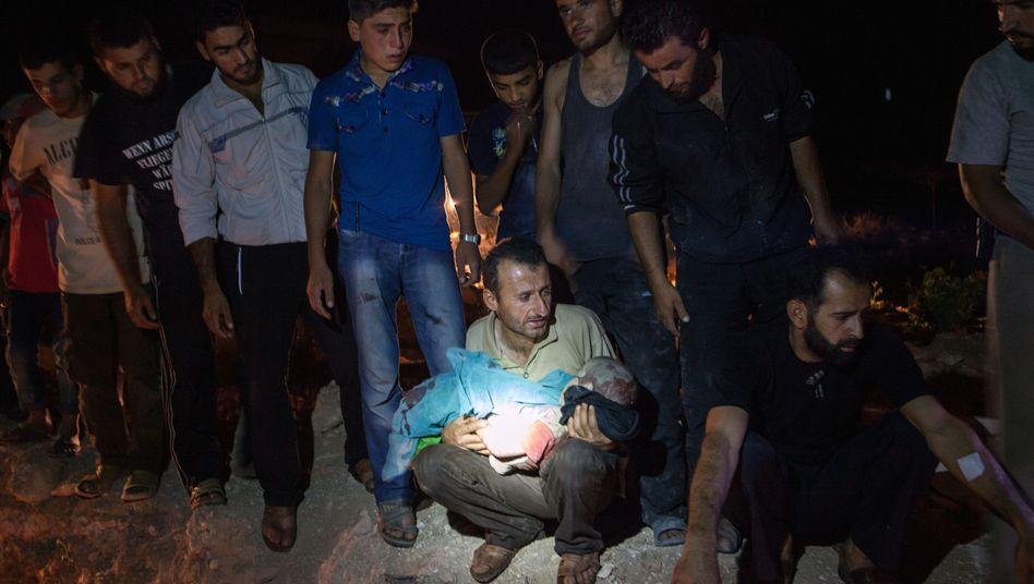 Mann, getötetes Kind: Die Provinz Idlib ist heftig umkämpft