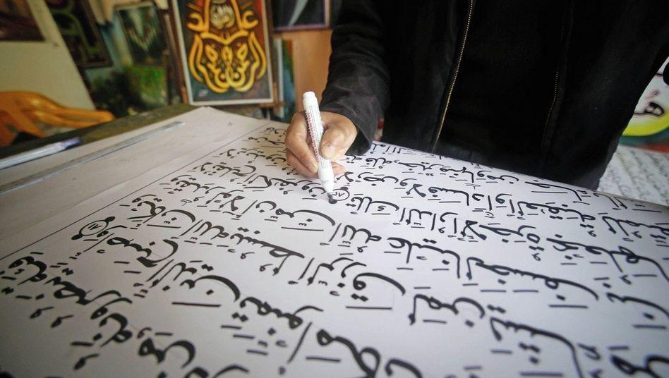 Kalligraf beim Abschreiben des Koran: Verlust der Poesie