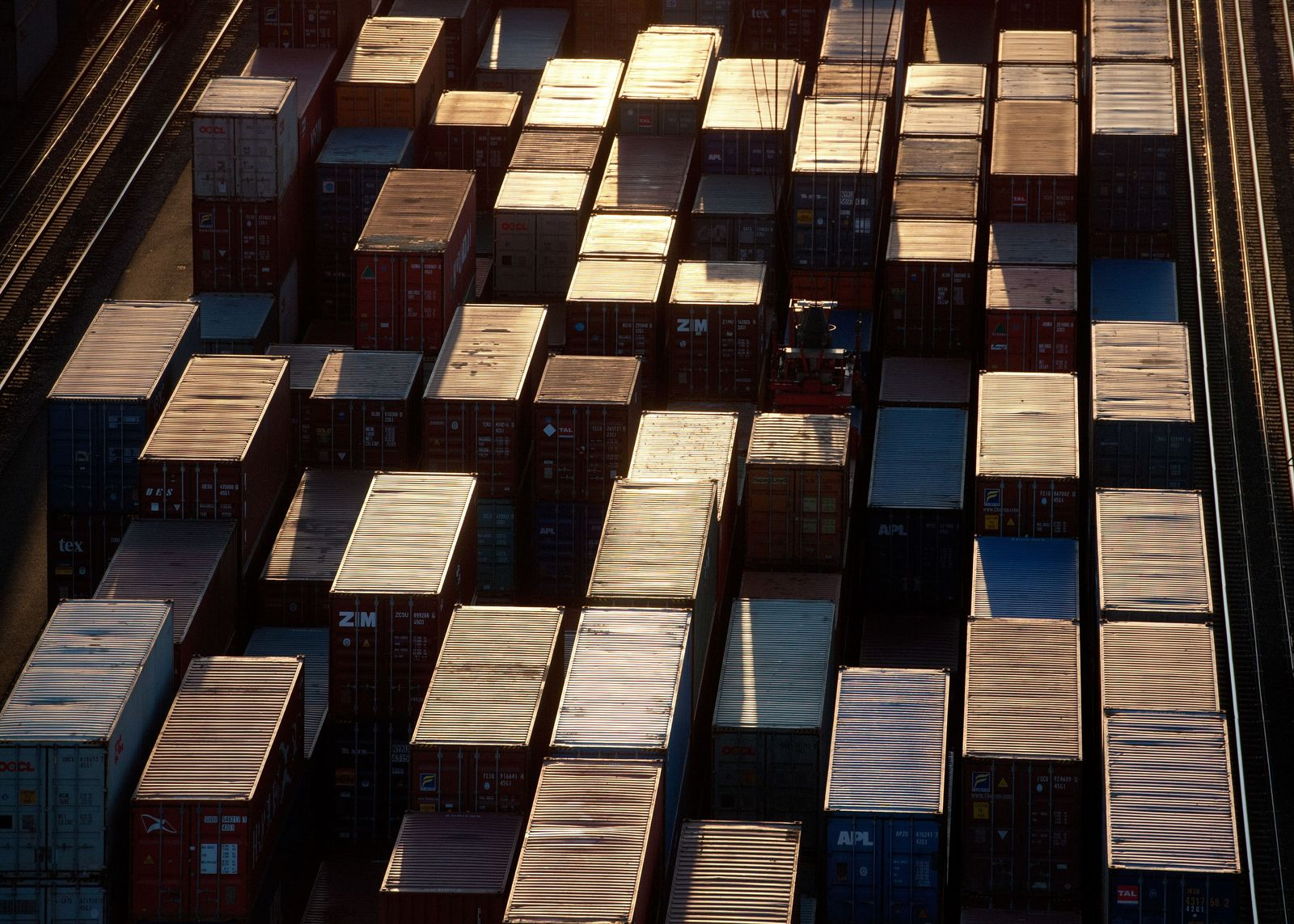 Container in Sonne