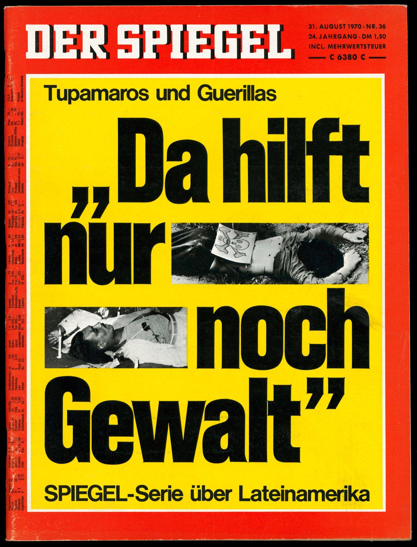 SPIEGEL-Titel 36/1970