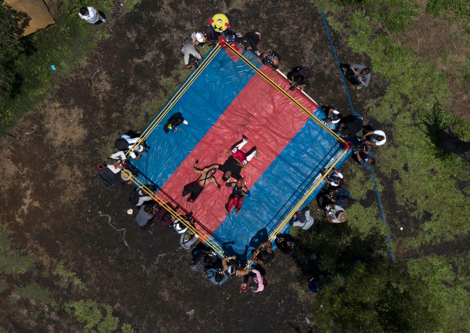 APTOPIX Virus Outbreak Mexico - Lucha Libre