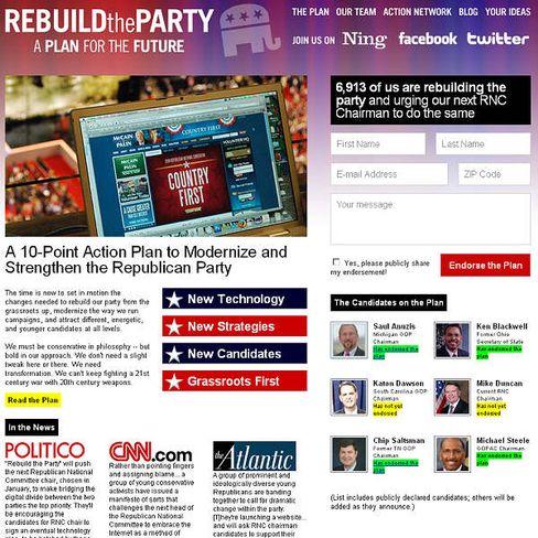 Rebuildtheparty.com: Spagat zwischen altem Jubelpatriotismus und webbigen Graswurzel-Idealen