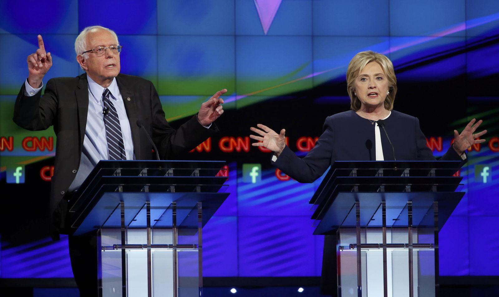 Demokraten USA Debatte Hillary Clinton