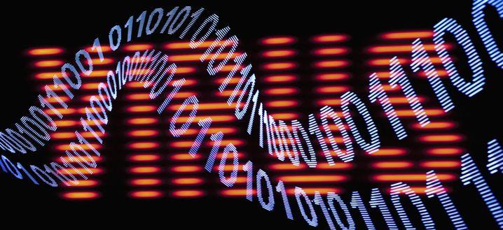 Binärcode vor dem Begriff Virus: Unklar, was das Bild aussagen soll