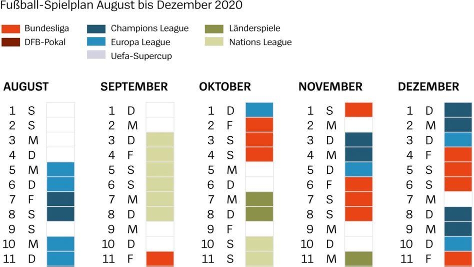 So könnte nach SPIEGEL-Recherche der Rahmenterminkalender bis Ende des Jahres aussehen