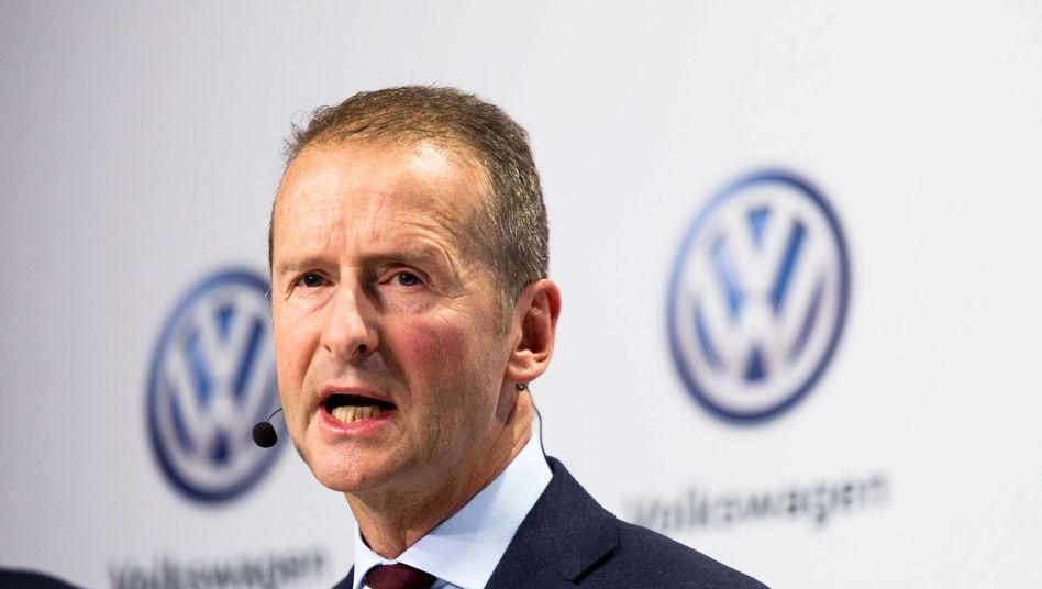 VW-Chef Herbert Diess (Archiv)