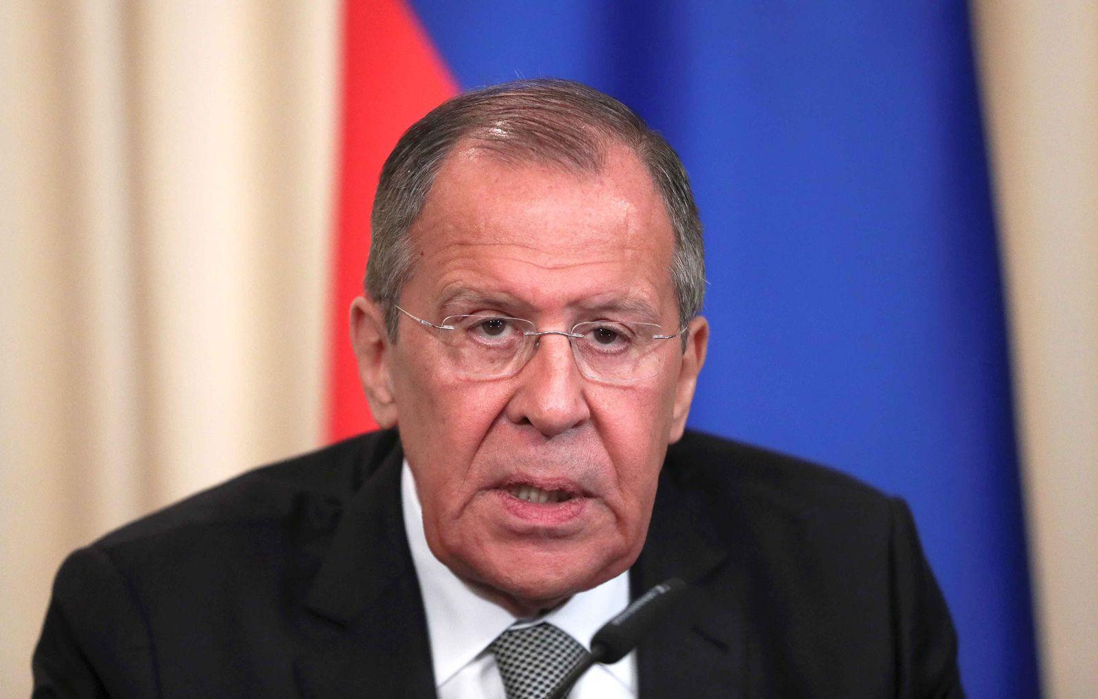 Russland Außenminister Lawrow