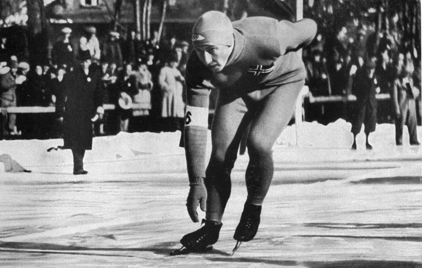 1936 Winter Olympic Games Garmisch - Partenkirchen, Germany Speed skater, Ivar Ballangrud, of Norway, won three gold me