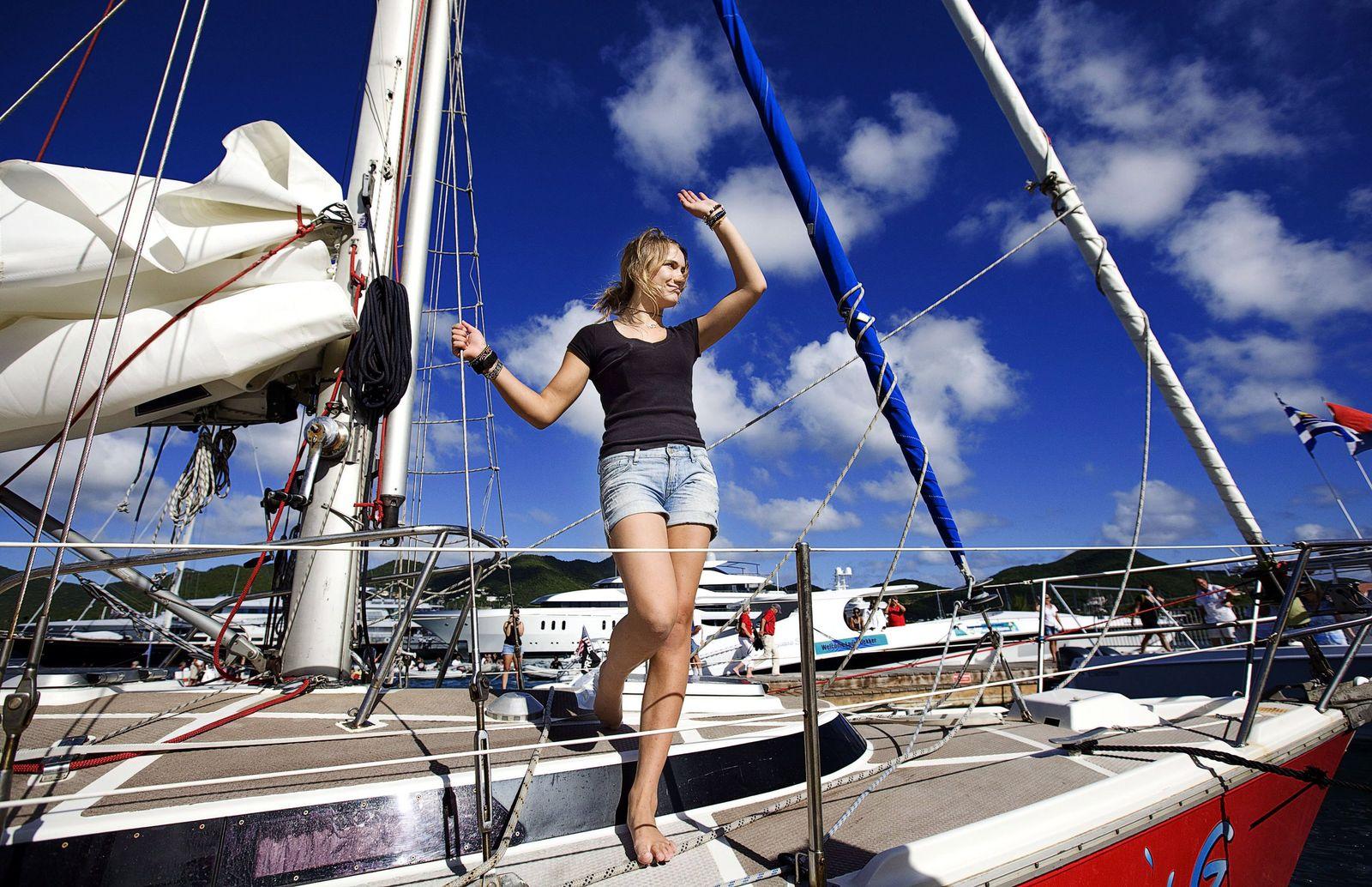 Laura Dekker/ Ankunft/ Sint Maarten