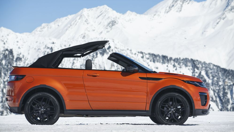 Autogramm Range Rover Evoque Cabrio: Ausfahrt in der Badewanne